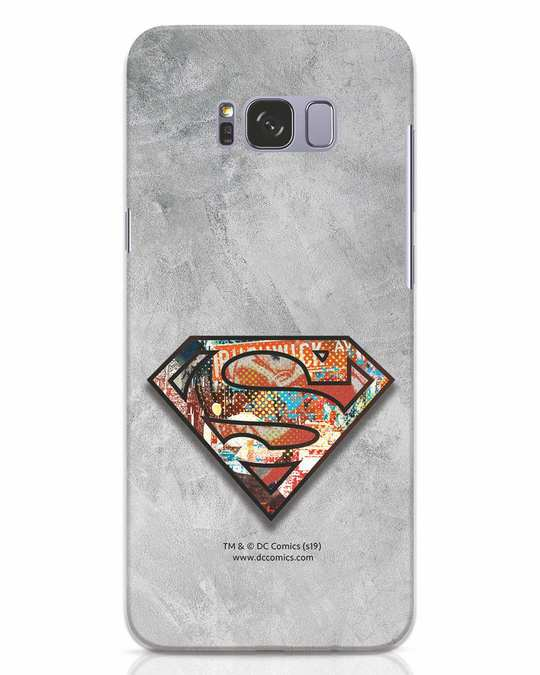 Shop Superman Logo Collage Samsung Galaxy S8 Plus Mobile Cover-Front