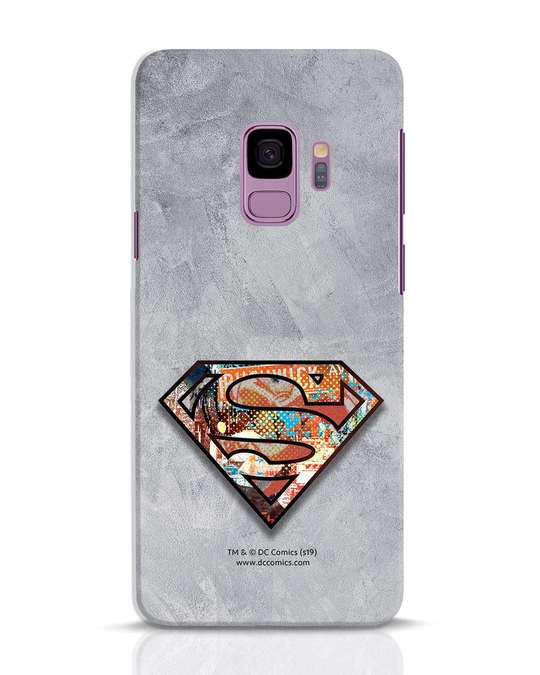 Shop Superman Logo Collage Samsung Galaxy S9 Mobile Cover-Front