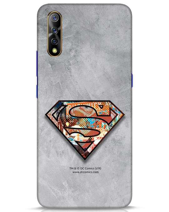 Shop Superman Logo Collage Vivo S1 Mobile Cover-Front