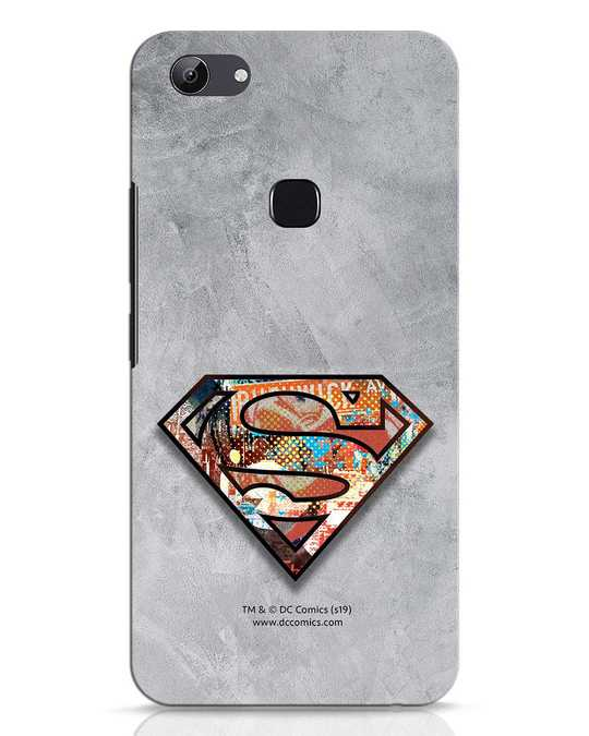 Shop Superman Logo Collage Vivo Y83 Mobile Cover-Front