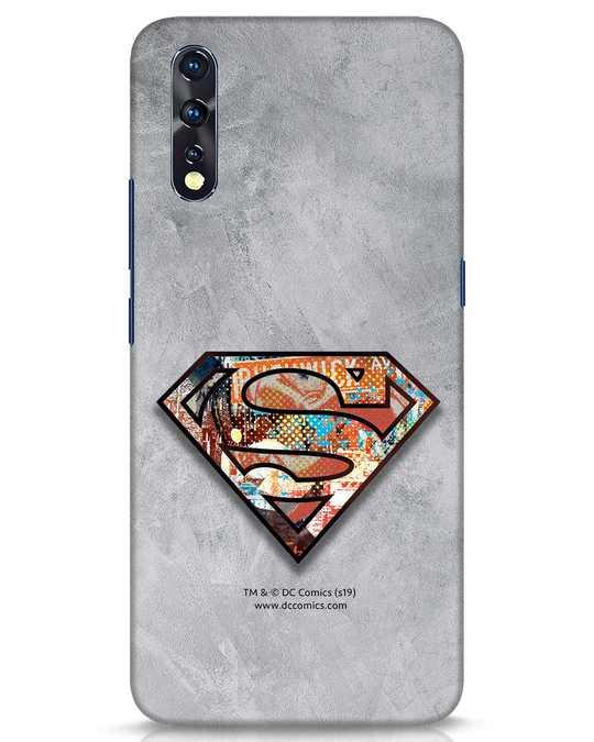 Shop Superman Logo Collage Vivo Z1x Mobile Cover-Front