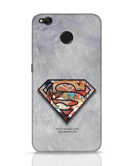Shop Superman Logo Collage Xiaomi Redmi 4 Mobile Cover-Front