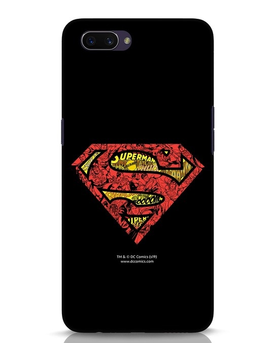 Shop Superman Logo Doodle Oppo A3S Mobile Cover (DL)-Front