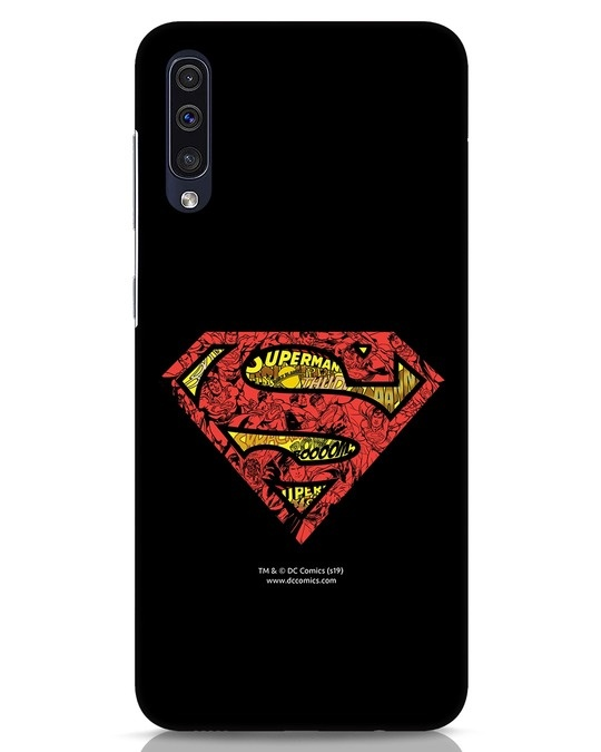 Shop Superman Logo Doodle Samsung Galaxy A50 Mobile Cover (DL)-Front