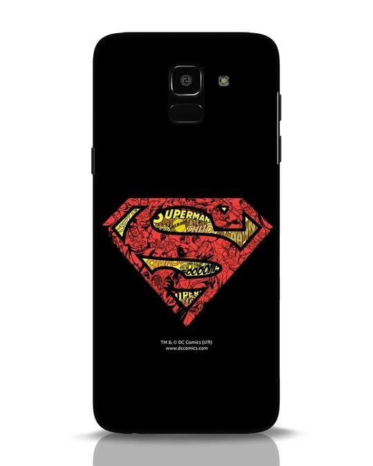 Shop Superman Logo Doodle Samsung Galaxy J6 Mobile Cover (DL)-Front
