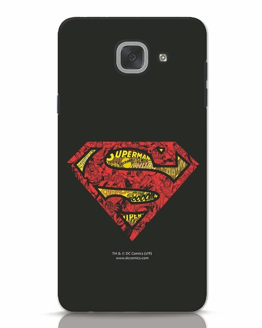 Shop Superman Logo Doodle Samsung Galaxy J7 Max Mobile Cover (DL)-Front