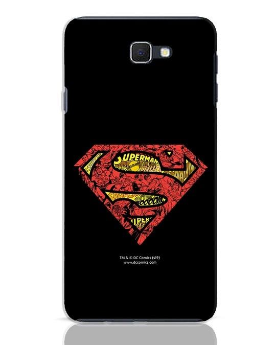 Shop Superman Logo Doodle Samsung Galaxy J7 Prime Mobile Cover (DL)-Front