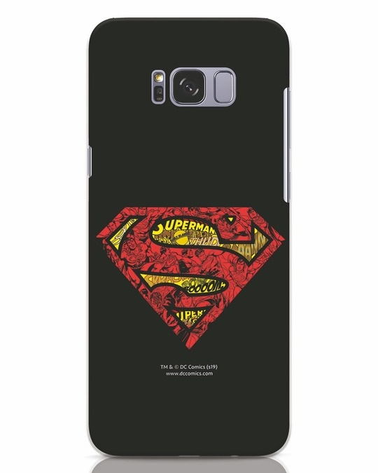 Shop Superman Logo Doodle Samsung Galaxy S8 Plus Mobile Cover (DL)-Front