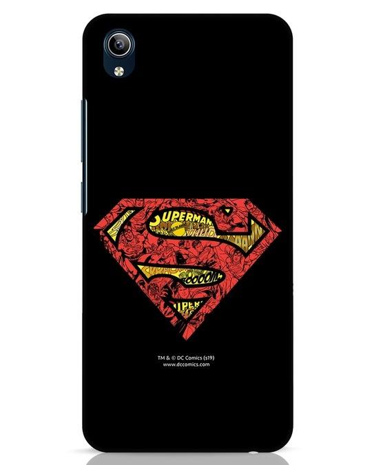 Shop Superman Logo Doodle Vivo Y91i Mobile Cover (DL)-Front