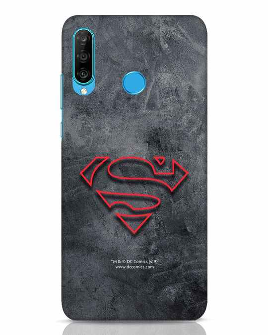 Shop Superman Logo Line Huawei P30 Lite Mobile Cover-Front