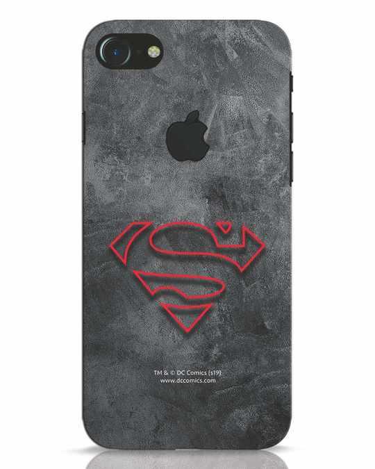 Shop Superman Logo Line iPhone 7 Logo Cut Mobile Cover-Front