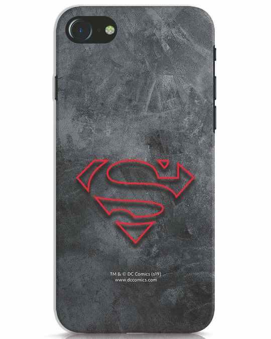 Shop Superman Logo Line iPhone 7 Mobile Cover-Front