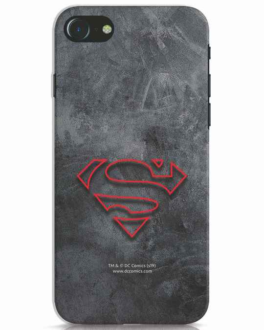 Shop Superman Logo Line iPhone 8 Mobile Cover-Front