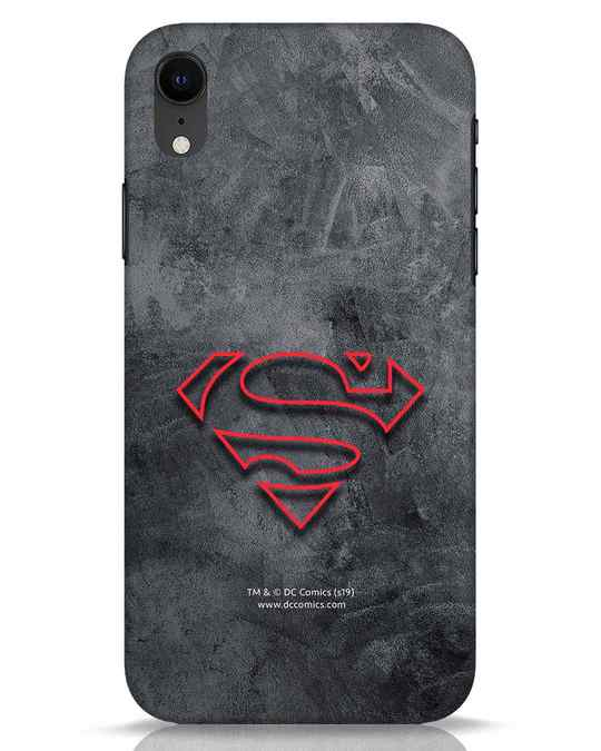 Shop Superman Logo Line iPhone XR Mobile Cover-Front