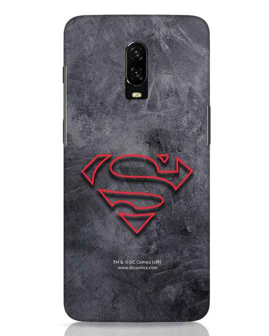 Shop Superman Logo Line OnePlus 6T Mobile Cover-Front