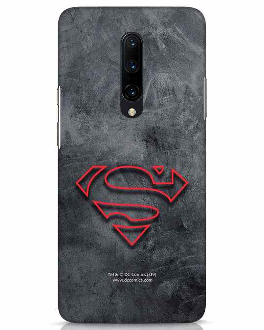Shop Superman Logo Line OnePlus 7 Pro Mobile Cover-Front