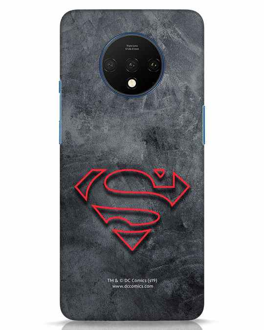 Shop Superman Logo Line OnePlus 7T Mobile Cover-Front