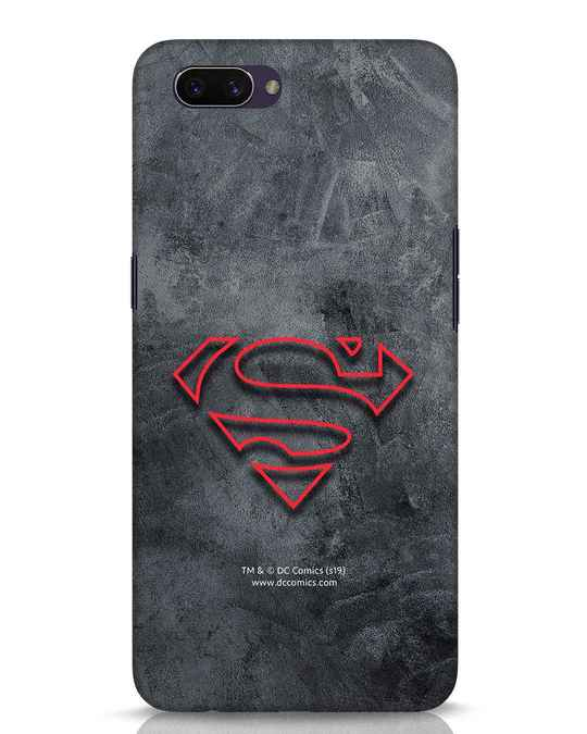 Shop Superman Logo Line Oppo A3S Mobile Cover-Front