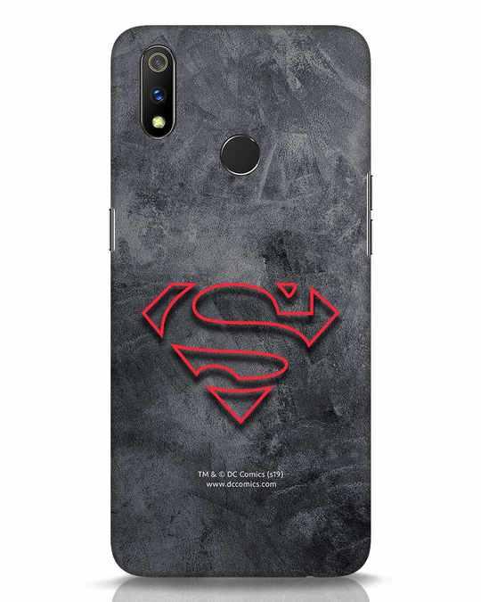 Shop Superman Logo Line Realme 3 Pro Mobile Cover-Front