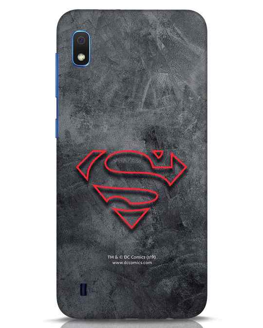 Shop Superman Logo Line Samsung Galaxy A10 Mobile Cover-Front
