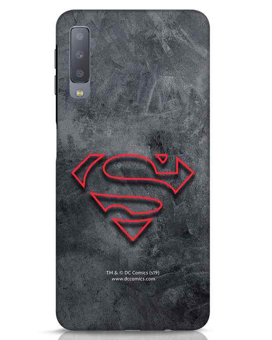Shop Superman Logo Line Samsung Galaxy A7 Mobile Cover-Front