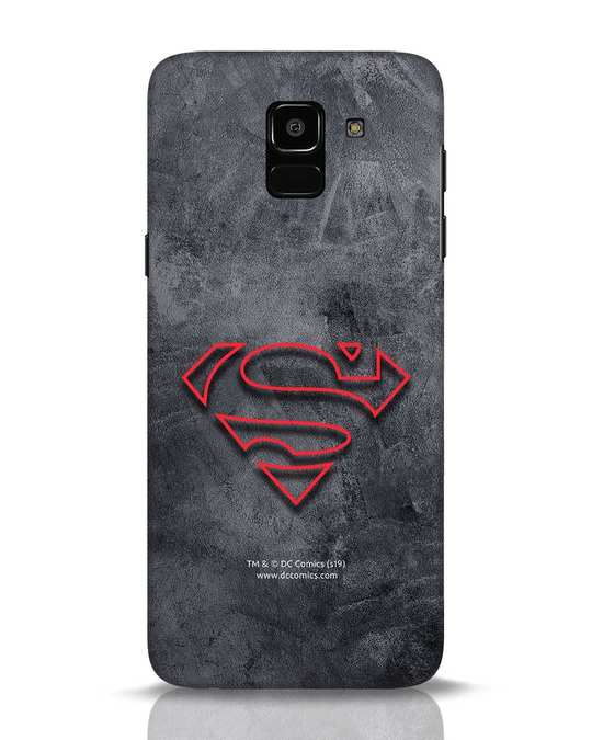 Shop Superman Logo Line Samsung Galaxy J6 Mobile Cover-Front