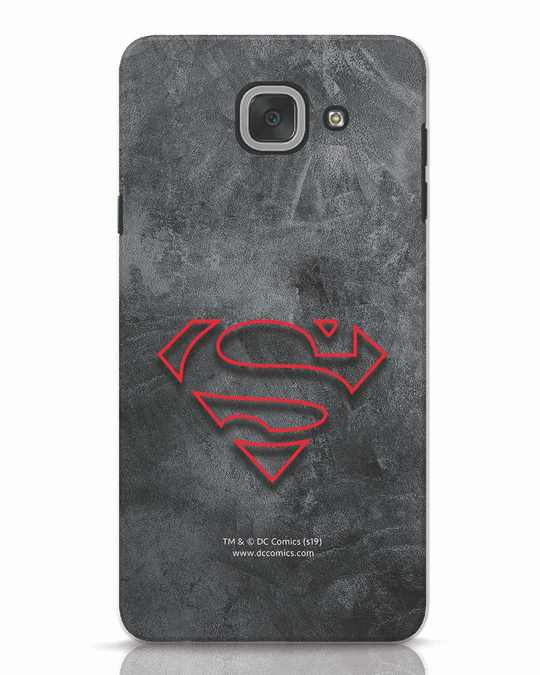 Shop Superman Logo Line Samsung Galaxy J7 Max Mobile Cover-Front