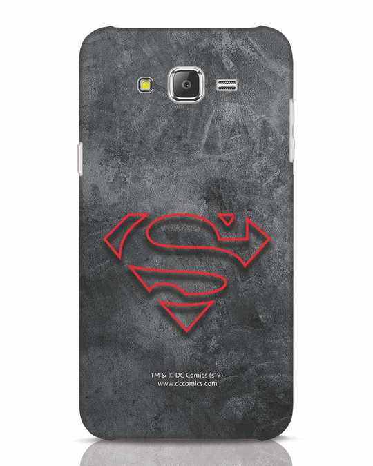 Shop Superman Logo Line Samsung Galaxy J7 Mobile Cover-Front