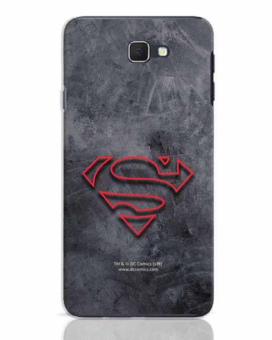 Shop Superman Logo Line Samsung Galaxy J7 Prime Mobile Cover-Front