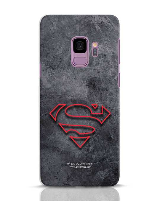 Shop Superman Logo Line Samsung Galaxy S9 Mobile Cover-Front