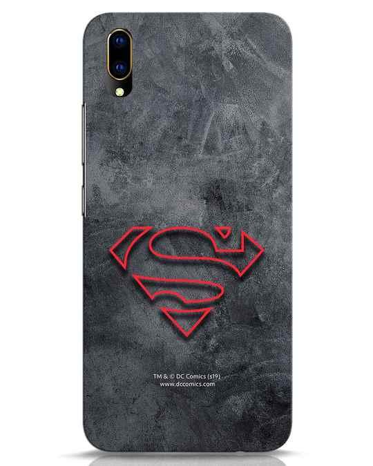 Shop Superman Logo Line Vivo V11 Pro Mobile Cover-Front
