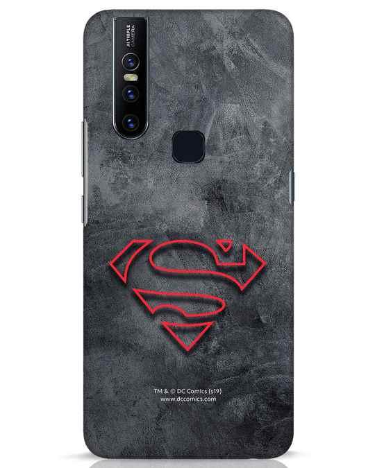 Shop Superman Logo Line Vivo V15 Mobile Cover-Front