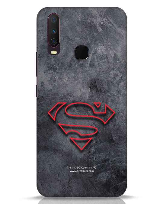 Shop Superman Logo Line Vivo Y17 Mobile Cover-Front