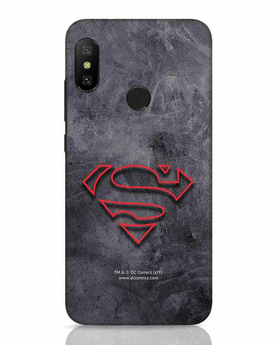 Shop Superman Logo Line Xiaomi Redmi 6 Pro Mobile Cover-Front