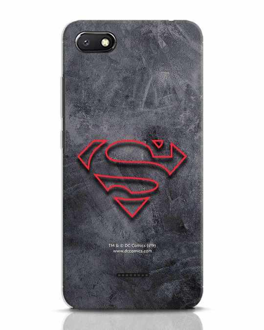 Shop Superman Logo Line Xiaomi Redmi 6A Mobile Cover-Front