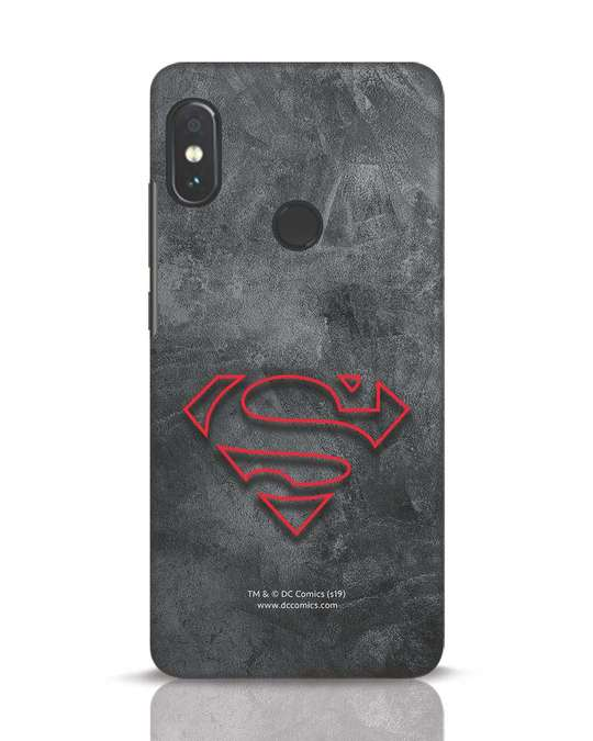 Shop Superman Logo Line Xiaomi Redmi Note 5 Pro Mobile Cover-Front