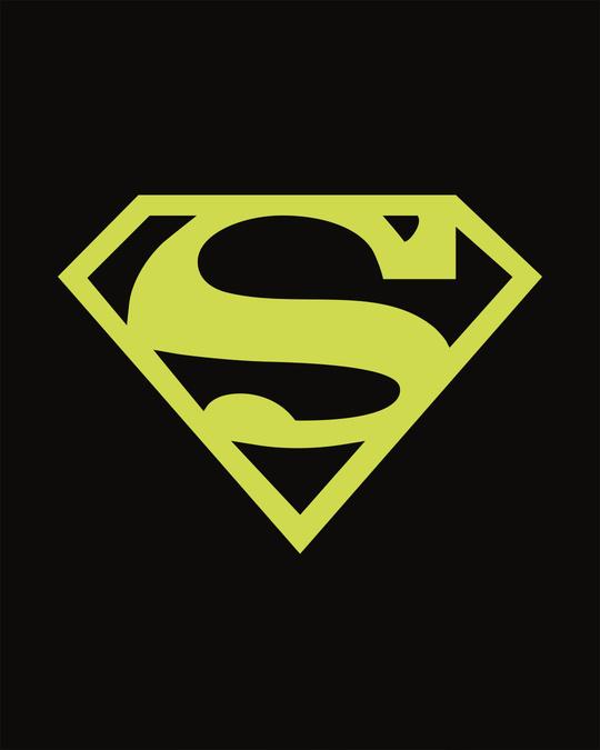 Shop Superman Neon Boyfriend T-Shirt (SML)-Full