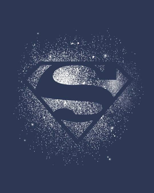 Shop Superman Spray Boyfriend T-Shirt (SL)