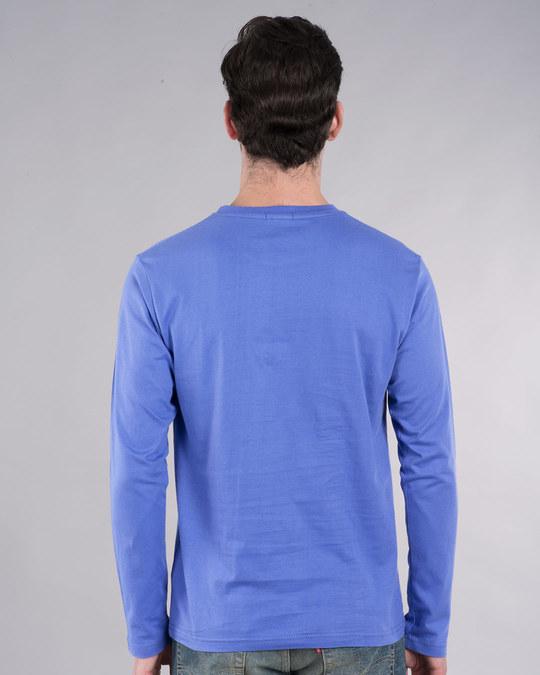 Shop Superman Spray Glow In Dark Full Sleeve T-Shirt (SL) -Back