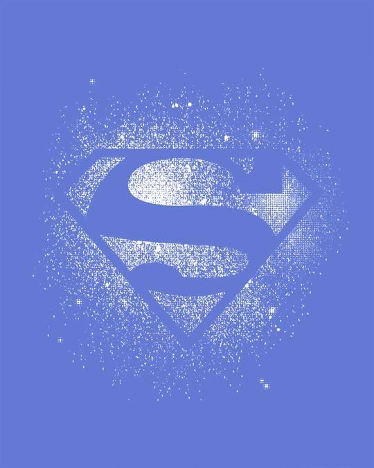 Shop Superman Spray Glow In Dark Full Sleeve T-Shirt (SL)