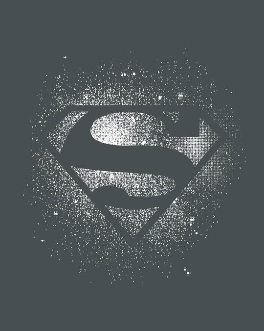 Shop Superman Spray Glow In Dark Full Sleeve T-Shirt (SL)