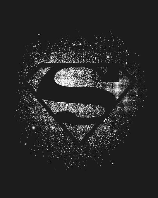 Shop Superman Spray Glow In Dark Half Sleeve T-Shirt (SL)