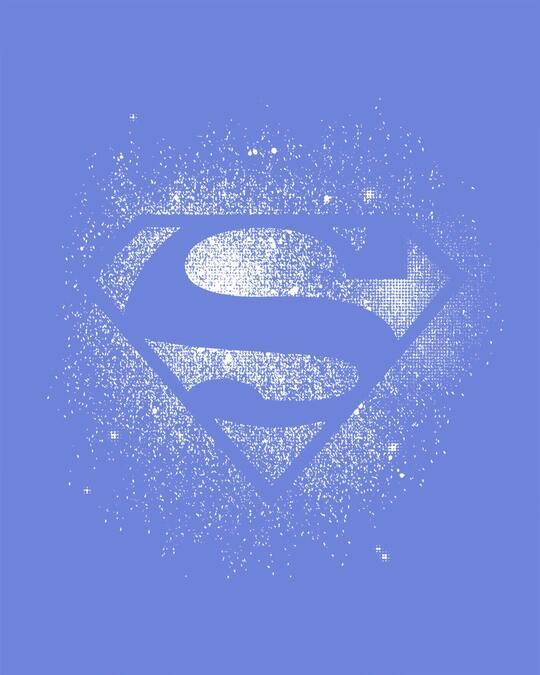 Shop Superman Spray Glow In Dark Half Sleeve T-Shirt (SL)