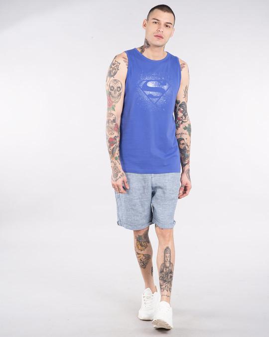 Shop Superman Spray Glow In Dark Vest (SL) -Design