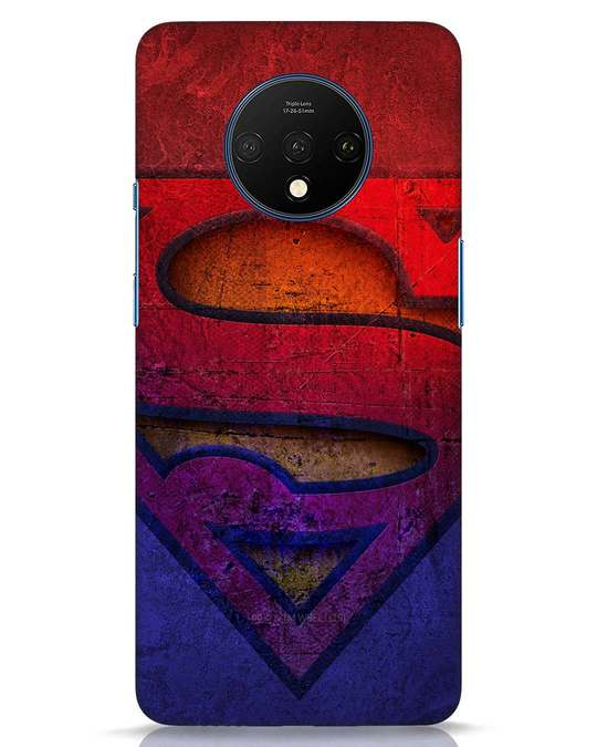 Shop Superman Stone OnePlus 7T Mobile Cover (SL)-Front
