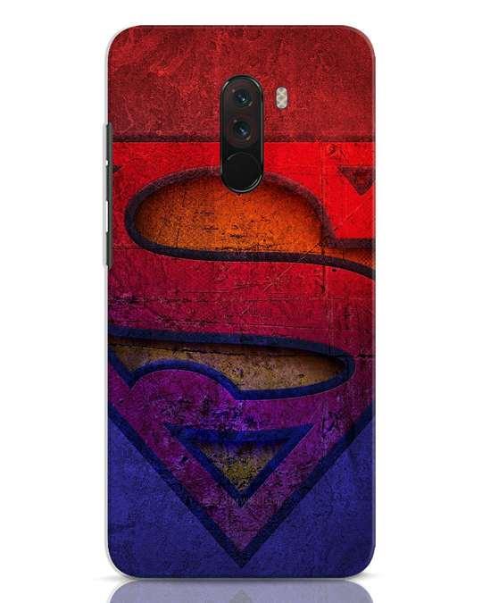 Shop Superman Stone Xiaomi POCO F1 Mobile Cover (SL)-Front