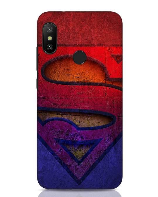 Shop Superman Stone Xiaomi Redmi Note 6 Pro Mobile Cover (SL)-Front