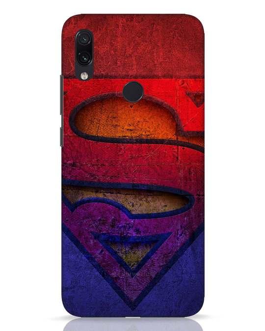 Shop Superman Stone Xiaomi Redmi Note 7 Pro Mobile Cover (SL)-Front