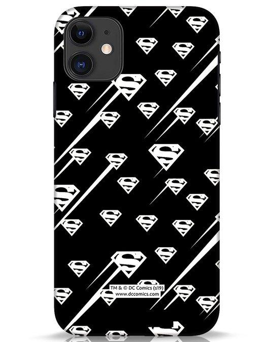 Shop Superman Streaks iPhone 11 Mobile Cover (SL)-Front