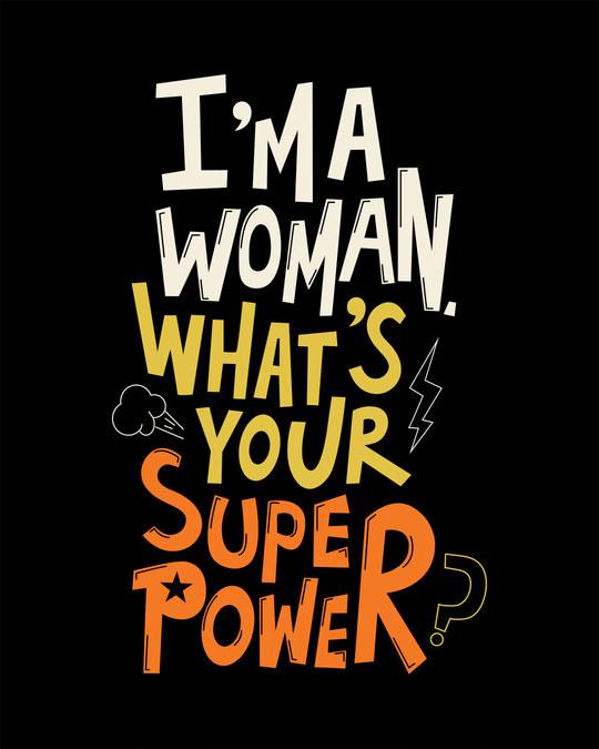 Shop Superwoman Round Neck 3/4th Sleeve T-Shirt